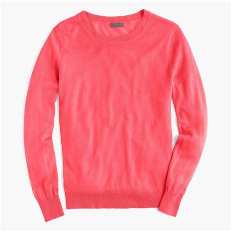 Sweater No Boyfriend Pink j crew italian featherweight boyfriend crewneck sweater in pink lyst