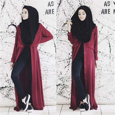 Kasual Dress Baju Wanita Dress Muslim Donita tutorial in the casual style hijabiworld