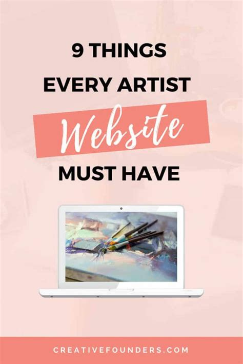 things you must have 9 things every artist website must have creative founders
