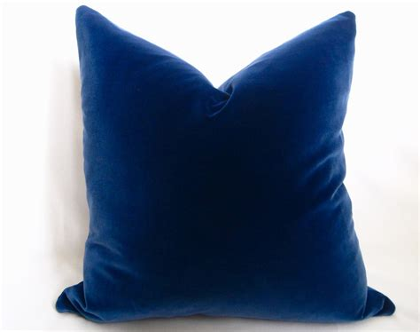 Pillows Blue by Belgium Cotton Velvet Pillow Cover Blue More By Willaskyehome