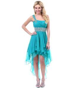 teal high low dress dressed up