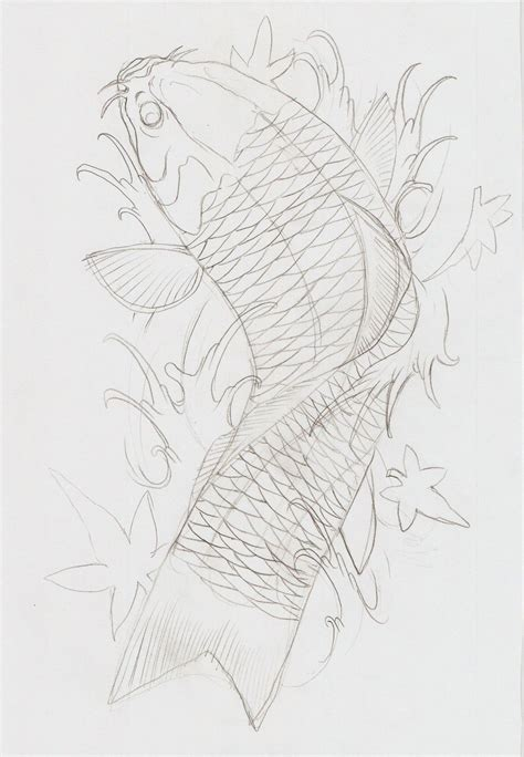 koi fish outline tattoo designs koi fish tattoos outline koi fish viii outline by eltri