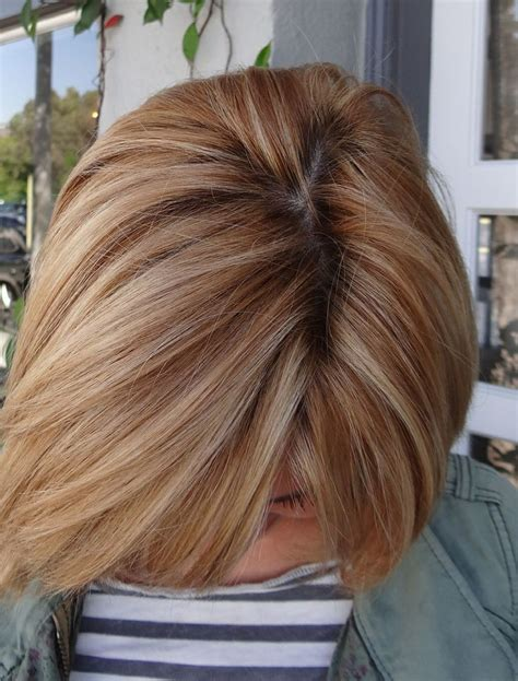 copper lowlights for short blonde hair highlights and low lights copper strawberry blonde