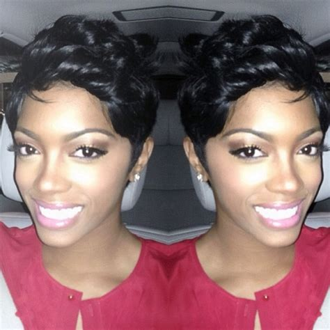 porsha stewart hair line photos porsha stewart shows off new shorter hair do