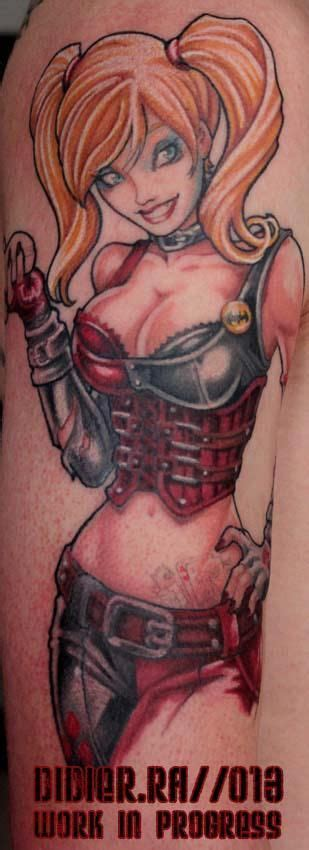 harley quinn pin up tattoo harley quinn 70 gt 3 169 187 163 ove