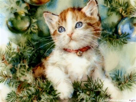 wallpaper cats christmas christmas kitten wallpapers wallpapers high definition