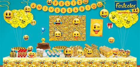 Rock Home Decor by Decora 231 227 O Festa Do Emoji Emoji Artigos Para Festas