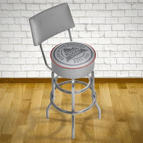 coors light bar stool trademark coors light 30 in chrome padded swivel bar