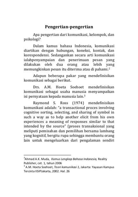 Komunikasi Antarbudaya Satu Perspektif Multidimensi komunikasi kelompok dalam perspektif psikologi