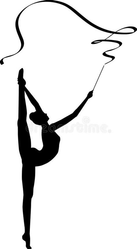 clipart ginnastica nastro di ginnastica ritmica illustrazione vettoriale