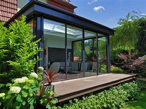 veranda vorm haus holz alu wintergarten modern neu wintergarten angebote