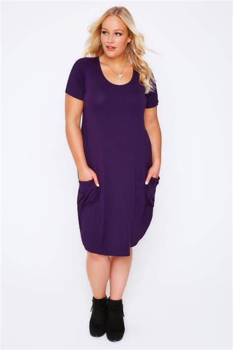 Jersey Dress Gamis Jersey 26 purple jersey dress with drop pockets