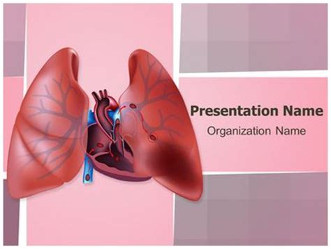 powerpoint themes lungs circulatory pulmonary embolism powerpoint template