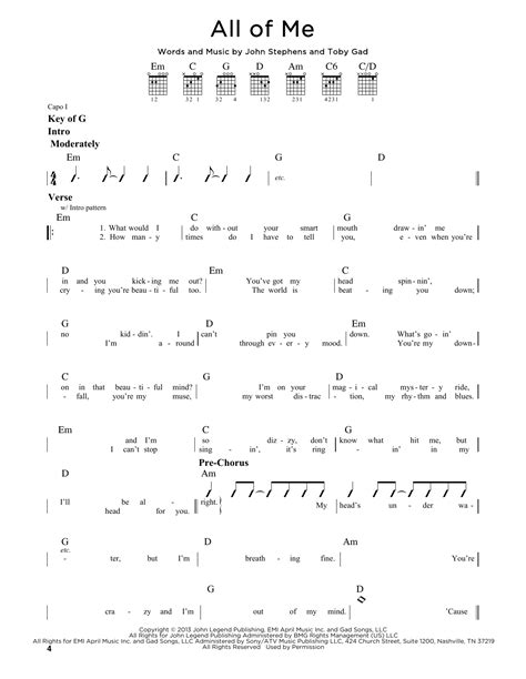 tutorial kunci guitar all of me all of me sheet music by john legend guitar lead sheet