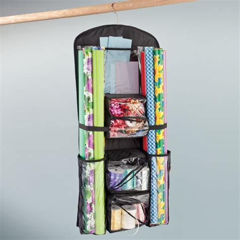 gift wrap organizers hanging gift wrap and accessory organizer walter