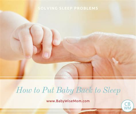 how to put a to sleep how to put baby back to sleep chronicles of a babywise