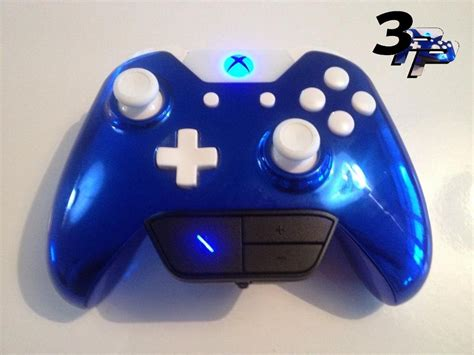 Xbox One Controller Lackieren by Custom Xbox One Controller Puck Chrome Blue With All