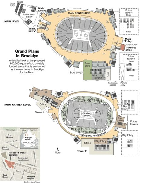 barclays center floor plan atlantic yards barclays center skyscrapercity