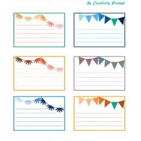 template elementary lined flashed cards themed journaling cards tip junkie
