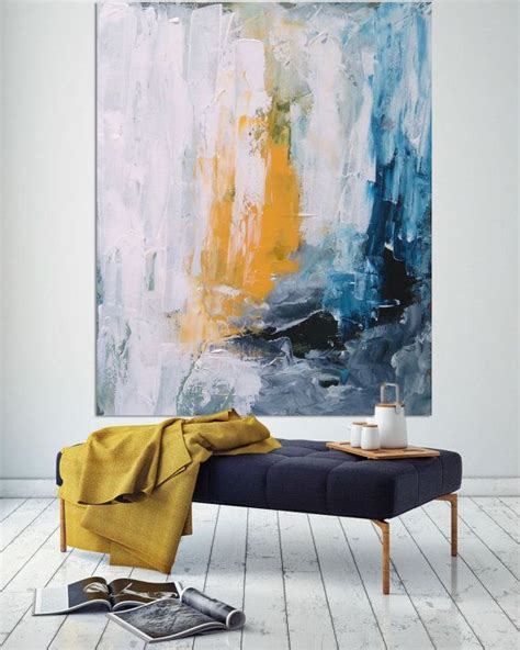 acrylic painting ideas for living room original large abstract painting acrylic by