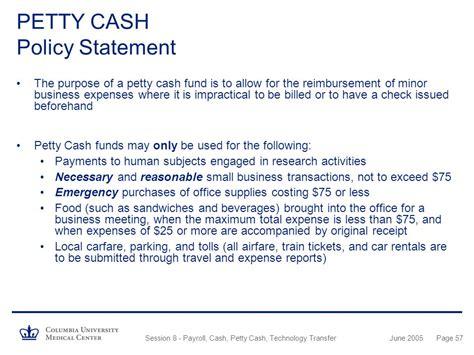 petty cash policy template image collections templates