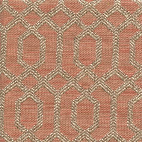 parquet apricot pink geometric upholstery fabric sw58842