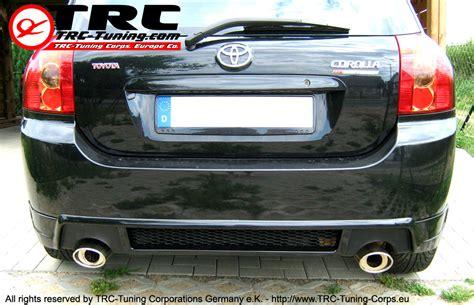 Toyota Corolla Verso Exhaust Trc Tuning Corporations Germany E K Toyota Lexus