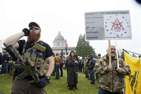 Washington State Background Check Laws Mike Ladines In Gun Rights Activist Protest State S New Gun Buying Background Check