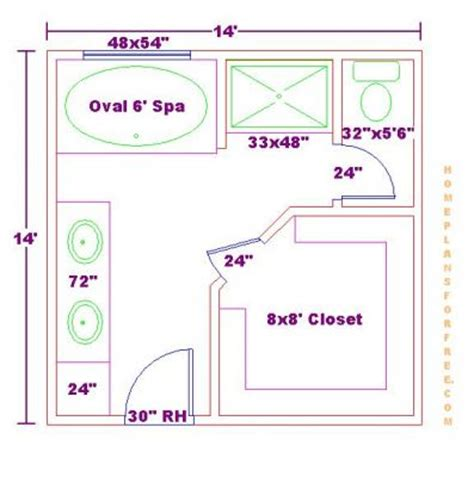 Master Bathroom Floor Plans With Walk In Closet by Free Bathroom Plan Design Ideas Free Bathroom Floor