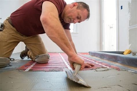 installing heated floor in bathroom heated floors in bathroom definition tips diy pros