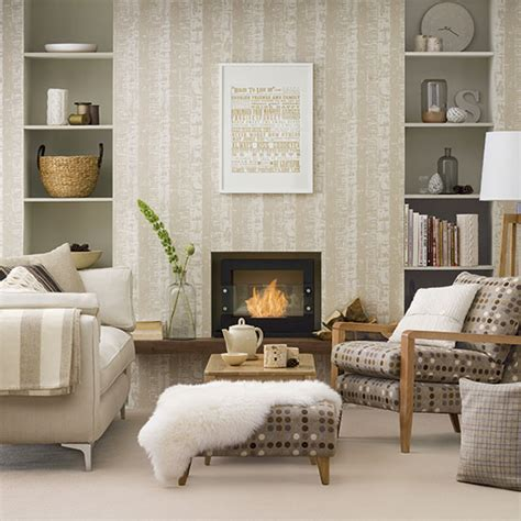 wallpaper living room pinterest neutral living room ideal home