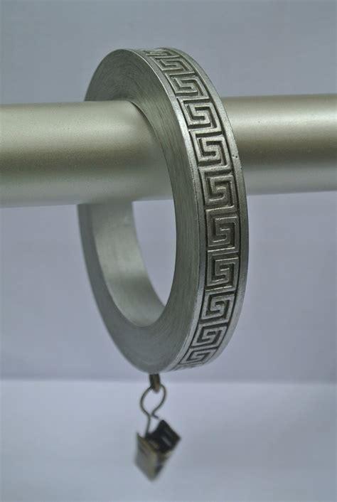pewter curtain rings urbanest set of 4 large greek key designer curtain rings