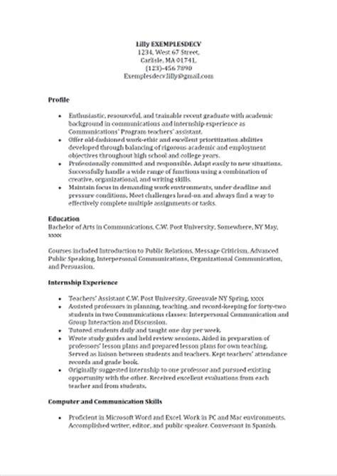 Lettre De Motivation Anglais Communication Exemple De Cv De Dipl 244 M 233 E En Communication En Anglais Exemples De Cv