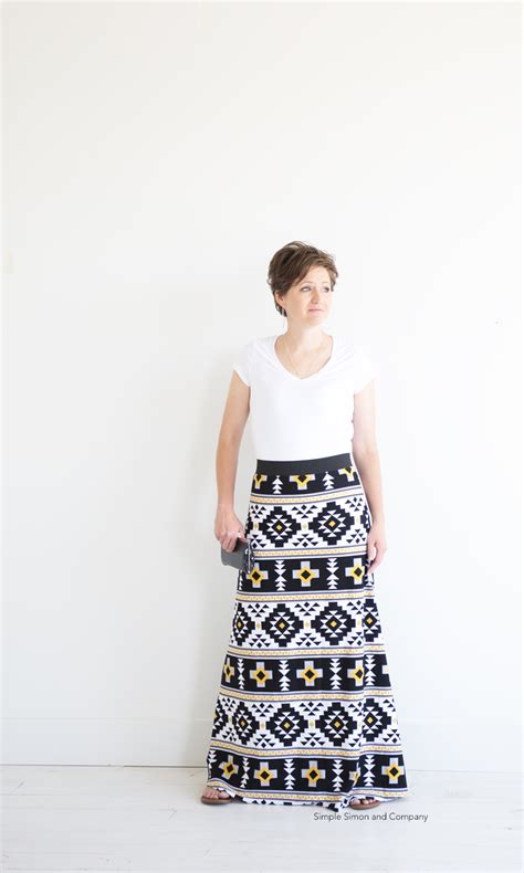 pattern for simple maxi skirt simple maxi skirt pdf pattern free simple simon and