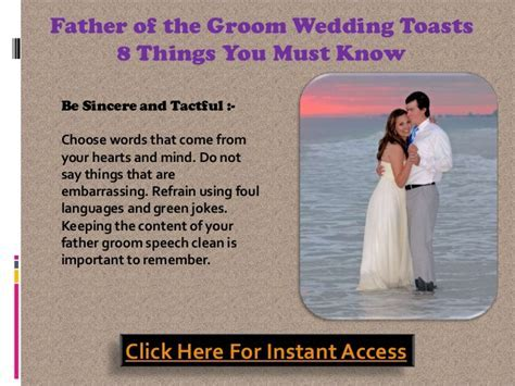Father of the groom wedding toasts ? 8 things you must know