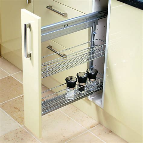 kitchen cabinet storage units wickes pull out storage unit 150mm wickes co uk