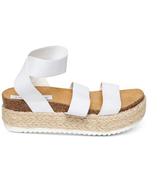 Steve Madden Kimmie Espadrille Sandal by Lyst Steve Madden Kimmie Flatform Espadrille Sandals In White