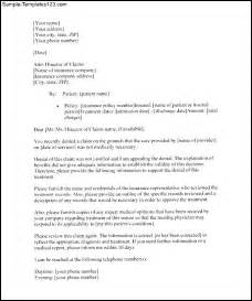 insurance letter template how to write an appeal letter for insurance sle cover