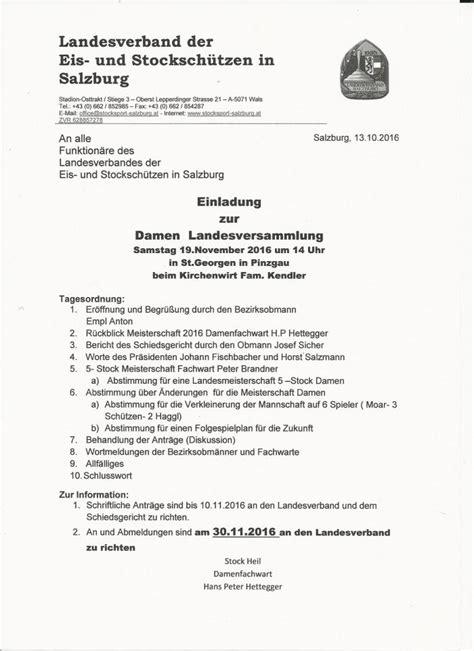 Vorlage Antrag Jahreshauptversammlung Stocksport Das Eisschie 223 En Im Pinzgau Einladungen Jhv
