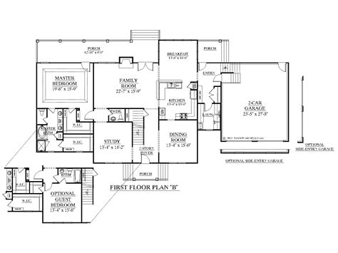 House Floor Plans Ranch Houseplans Biz House Plan 3397 B The Albany B