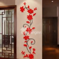 beautiful jasmine flower crystal acrylic 3d wall stickers aliexpress com buy 3d stereo flower vine acrylic crystal