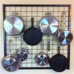 Wall Grid For Hanging Pots And Pans Wall Pot Rack I Ve Seen Another Diy Wall Pot Rack With