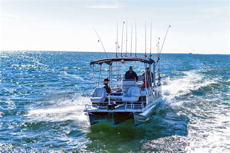 qwest pontoon 22 angler qwest pontoons 100 fishing platform peters