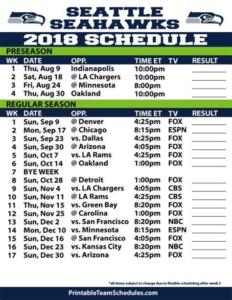 printable nfl season schedule nfl season calendar new calendar template site