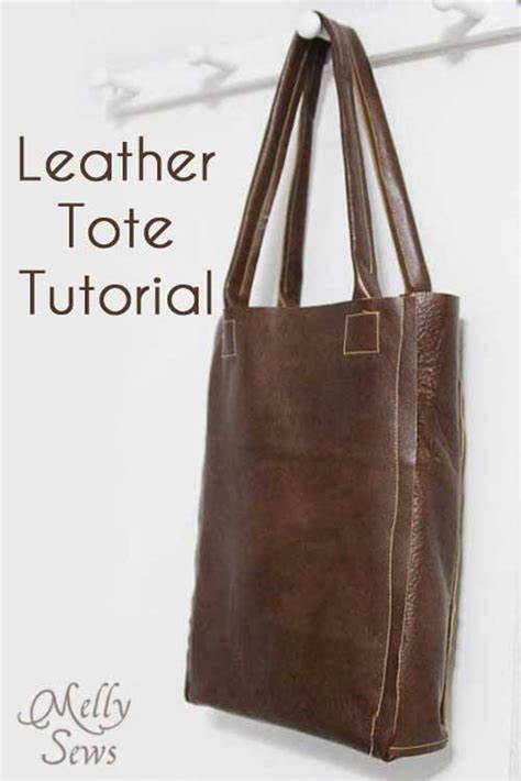 free pattern leather bag leather tote free sewing tutorial love to sew
