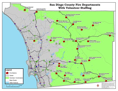 san diego county map where are the fires in san diego county map