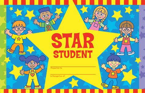 printable star student certificate certificates motivational and reward page 3 class