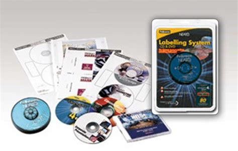 fellowes neato cd label template cd and dvd labelling systems