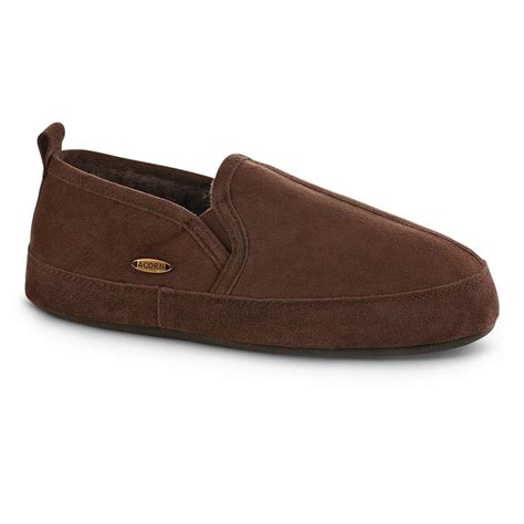 acorn mens slippers acorn s romeo shearling slippers 667134 slippers at