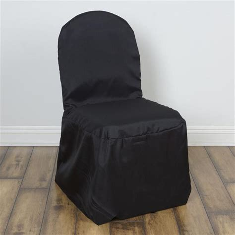 black chair slipcovers black banquet chair covers efavormart